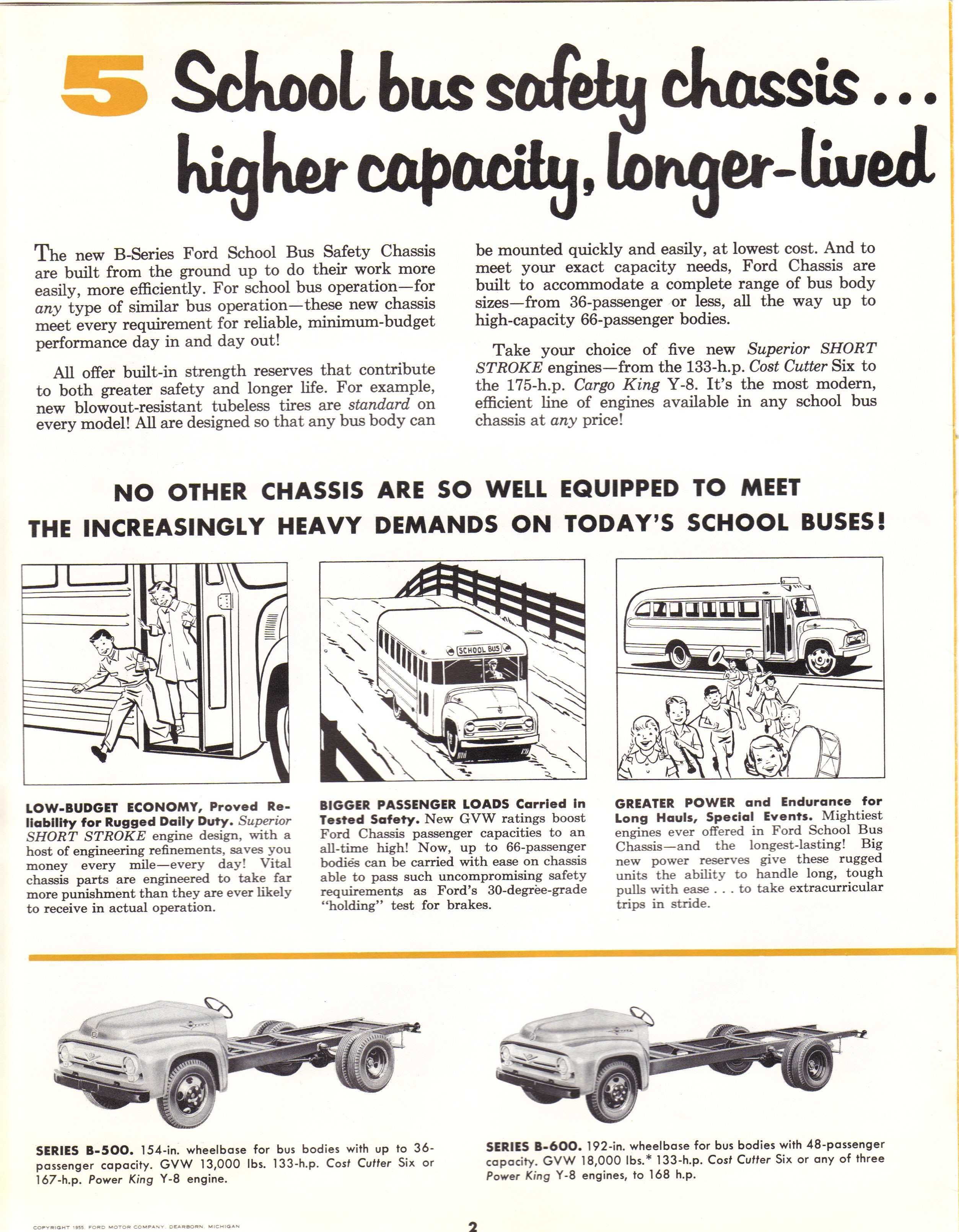 1956 Ford Bus Brochure Page 2
