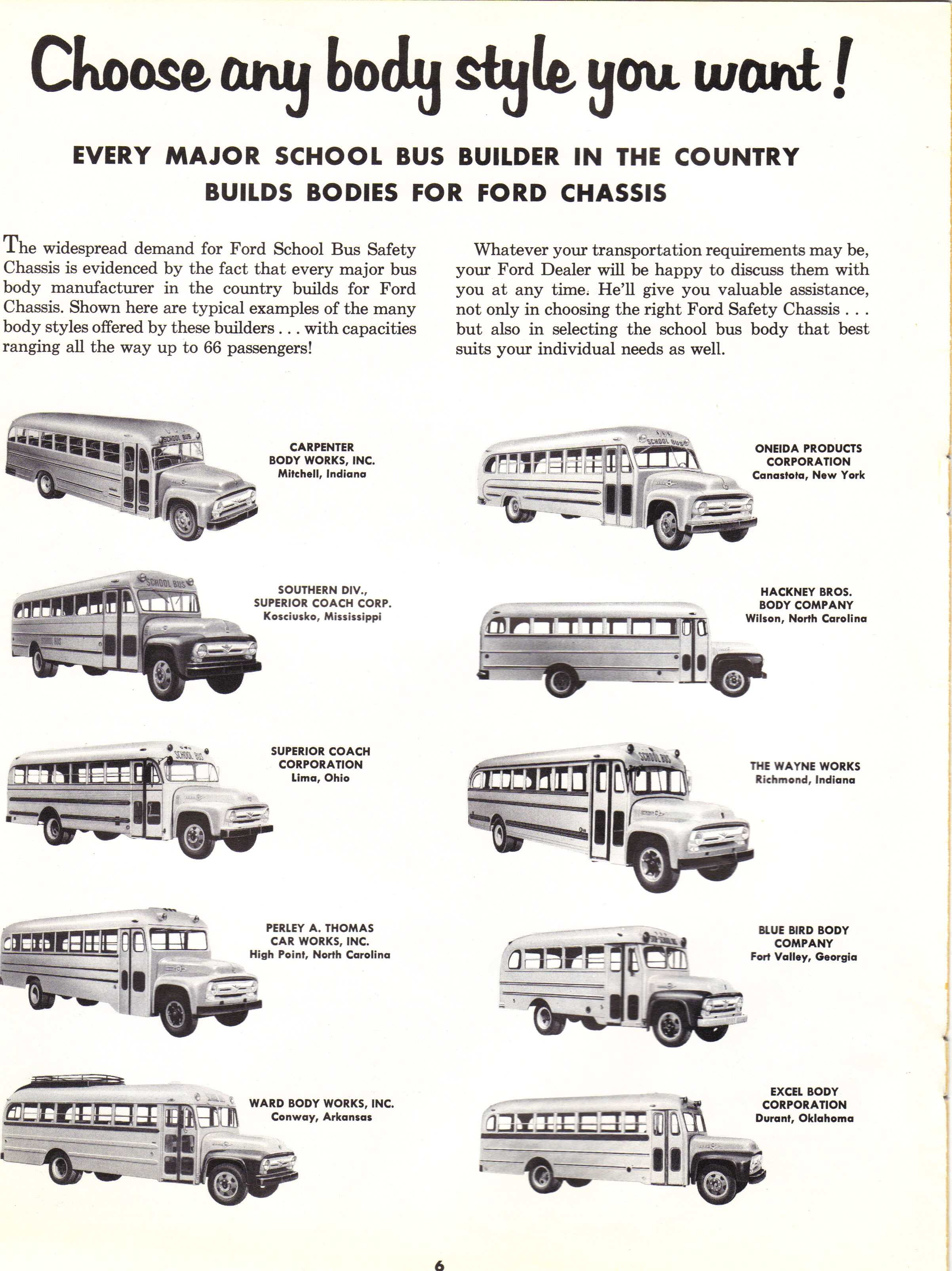 1956 Ford Bus Brochure Pg 6
