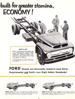 1956 Ford school bus chassis brochure, pg. 3