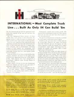 IHC 6-wheel trucks brochure page 3.