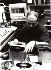 Chad Hauris at AM 1340 WOUB, Athens, Ohio, 1999